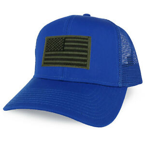 Details about XXL Oversize Black Olive USA Flag Patch Mesh Back Trucker  Baseball Cap a4a2f9ae5ede
