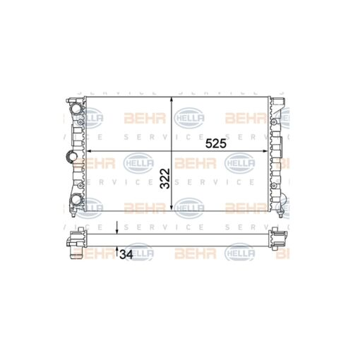 Genuine OE Quality Hella Radiator 8MK376901-131