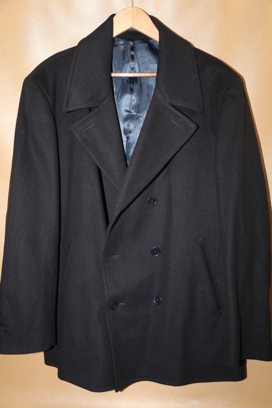 124 JOHN VARVATOS STAR USA  Wool & Cashmere Pea Coat Größe 44 R