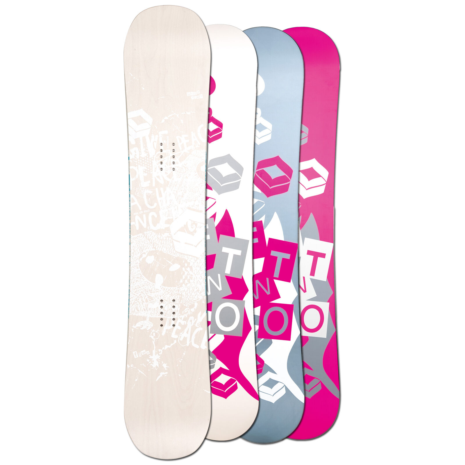 Ftwo Donna Freestyle Snowboard biancadeck Wood 152 cm  Camber