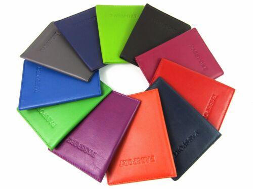 COVER in Vera Pelle Passaporto Titolare Portafoglio da viaggio Protettore Cartella Documenti RFID