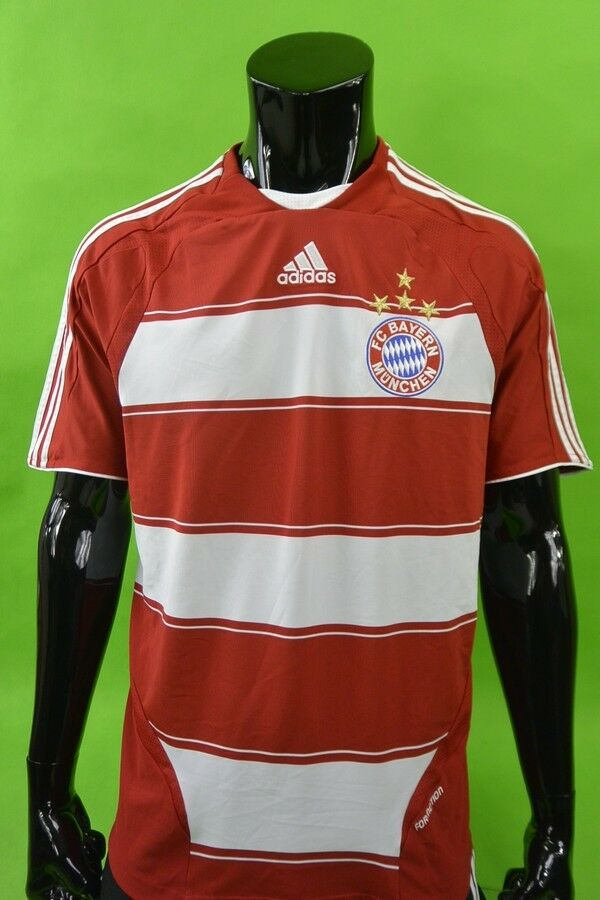 2007-09 adidas FC Bayern Munich Home Shirt PLAYER iSSUE Jersey Größe XL (adults)    Zürich