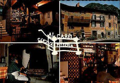 ANFO Lago D`Idro Ristorante Pizzeria Al Carel Cartolina color Postkarte ~1970