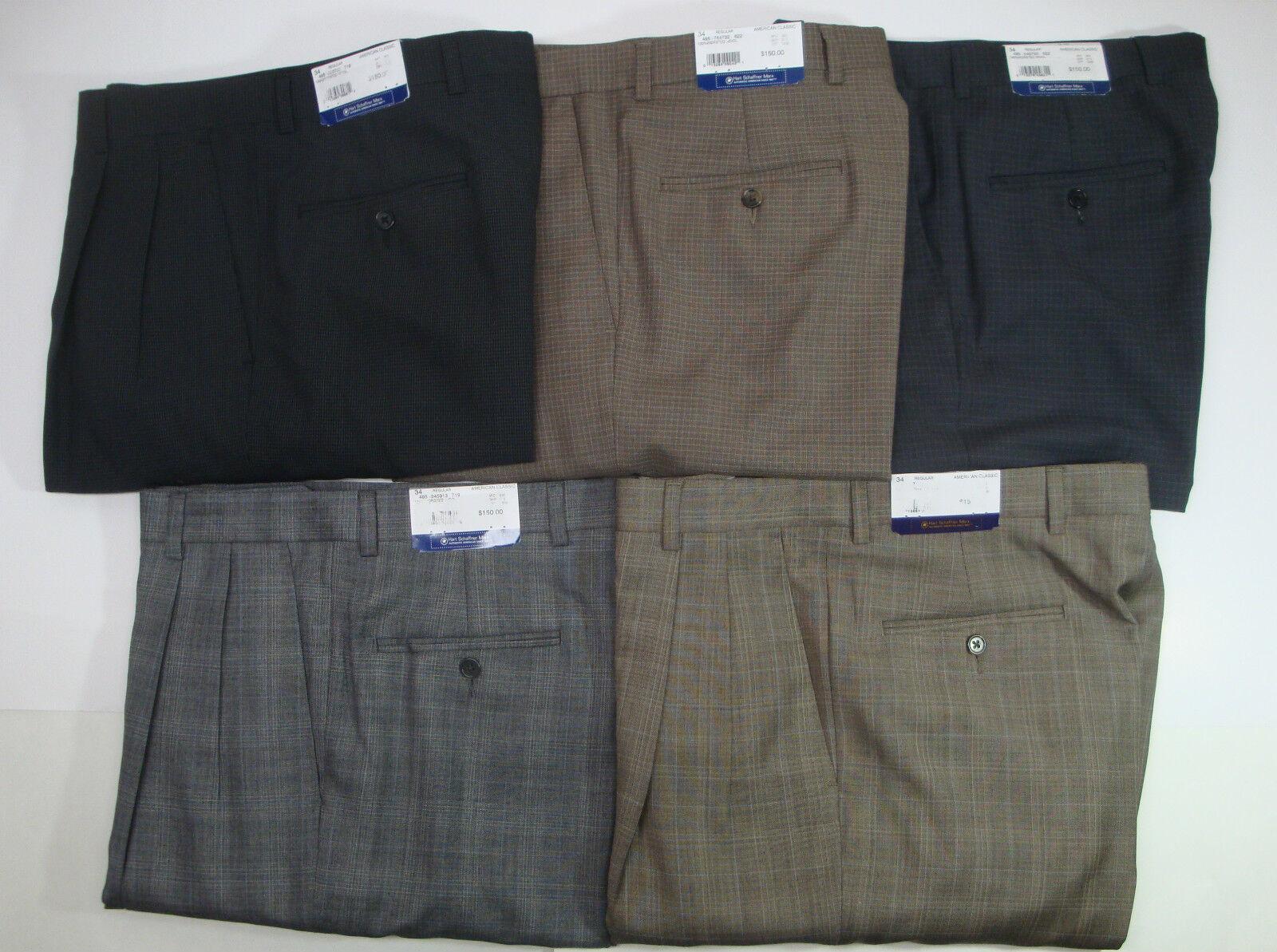 NWT  HART SCHAFFNER MARX WOOL CLASSIC DRESS PANTS MENS 32 34 35 NEW