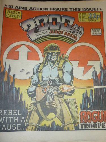 UK PAPER COMIC PROG 371 2000 AD Comic Date 02//06//1984