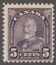 Canada #169 MNH 5c dull violet George V 1930 cv $16