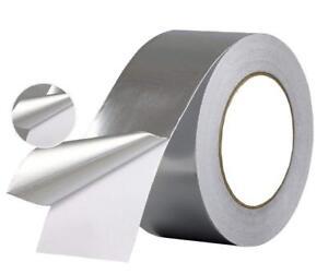 Ruban De Aluminium Adhésif 25 Mm. X 25 Mt.Hautes Et Basses Temp 50 Micron