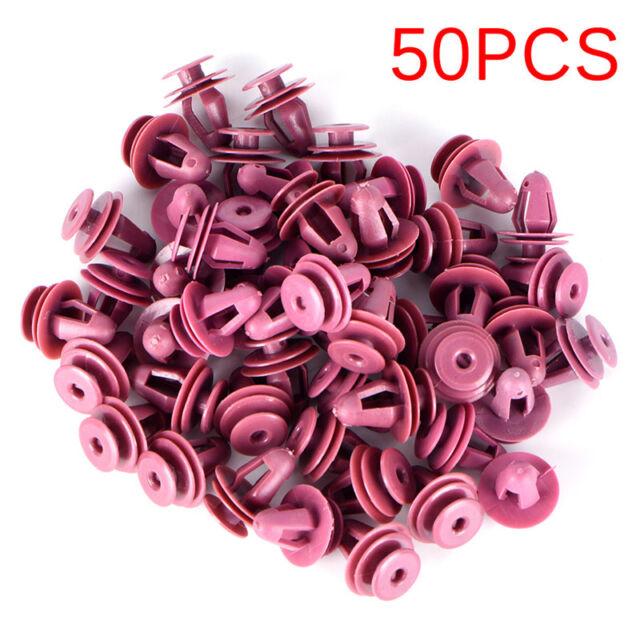 50x For Door Trim & Garnish Panel Retainer Clip Natural Nylon Fastener BR