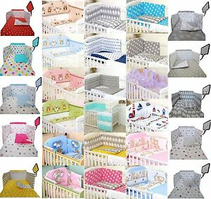 250-VARIATIONS-2-3-5-pcs-Baby-Bedding-Set-fit-Cot-120x60cm-or-Cot-Bed-140x70