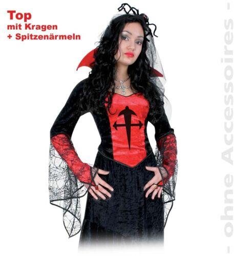 Top Davine Kostüm Basic 36-44 Halloween Gothic Vampirin Karneval 1210553G13