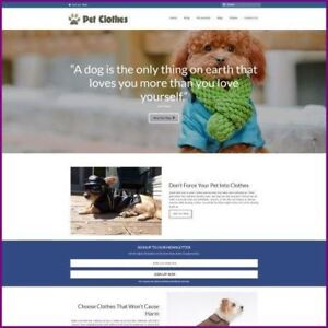 Fully-Stocked-Dropshipping-PET-CLOTHES-Website-Business-For-Sale-Domain-Host