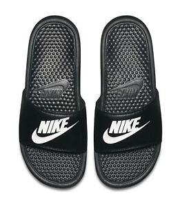 c9afa4c87e760 Nike Benassi JDI Slide 343880-090 Black White Mens US Size 8 UK 7 ...