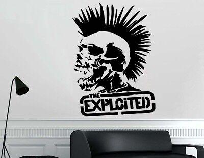 GUITAR GUITARIST Wall Art Sticker Vinyl Removable Decal Rock Band Punk Not Dead
