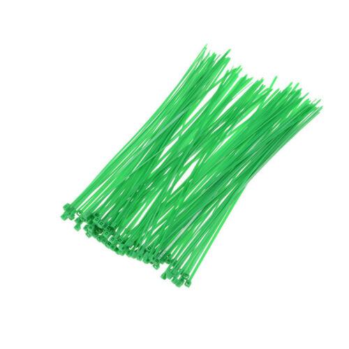 100X 3x200mm Nylon Plastic Zip Trim Wrap Cable Loop Ties Wire Self-Locking P*US