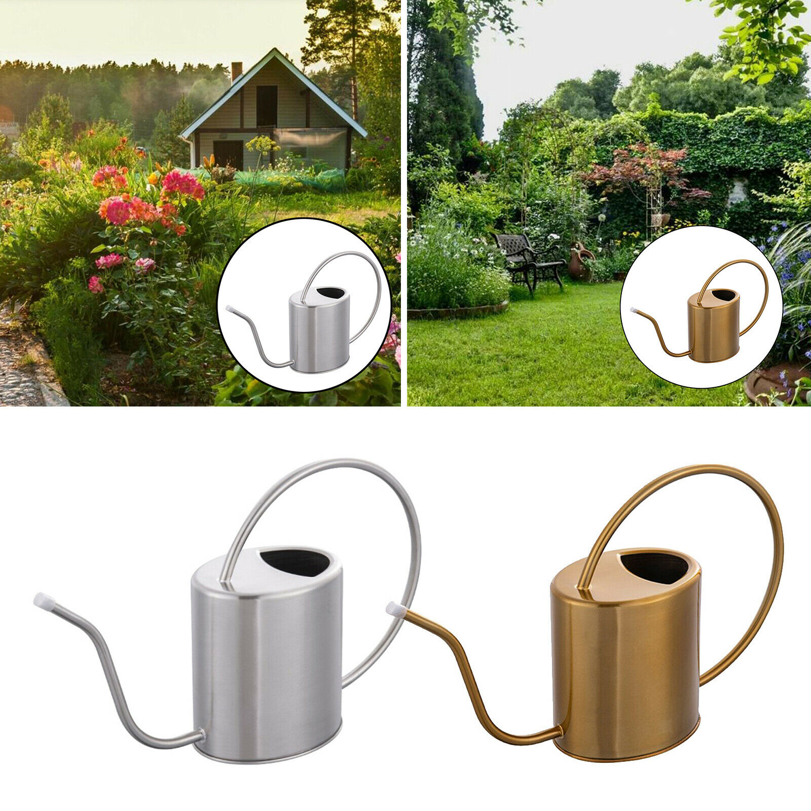 1.5L Gardening Watering Can for House Bonsai Plant Gardening Flower Long Spout