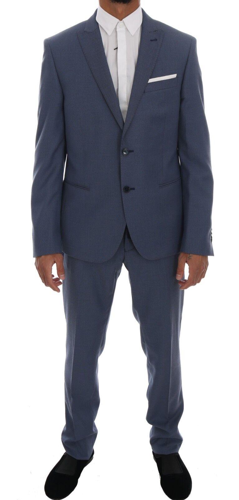 NEW  DANIELE ALESSANDRINI Suit bluee Two Button Slim Fit Men IT52   US42   XL