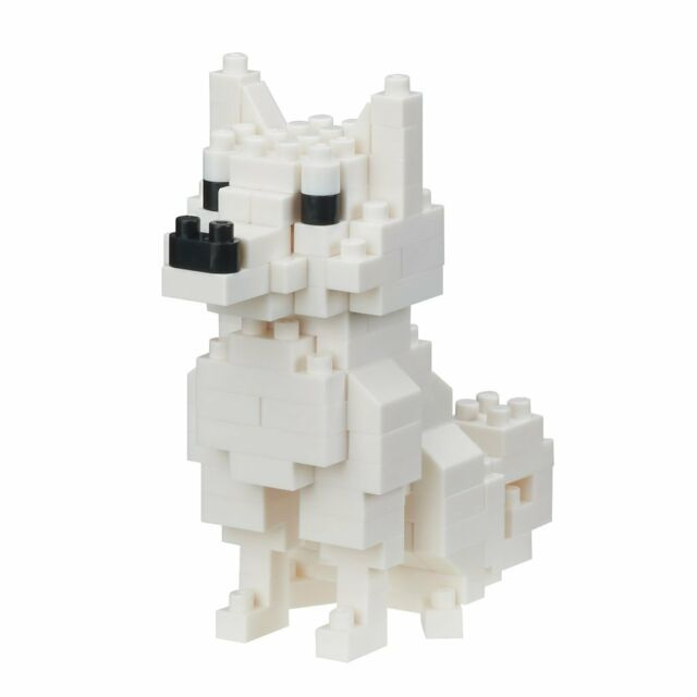 NEW NANOBLOCK Hokkaido Dog Nano Block Micro-Sized Building Blocks NBC-280