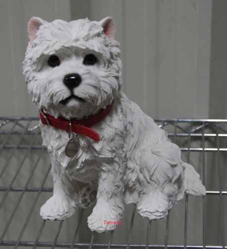 Large West Highland Terrier Dog Statue Westie Dog Figure Ornament Gift BNIB