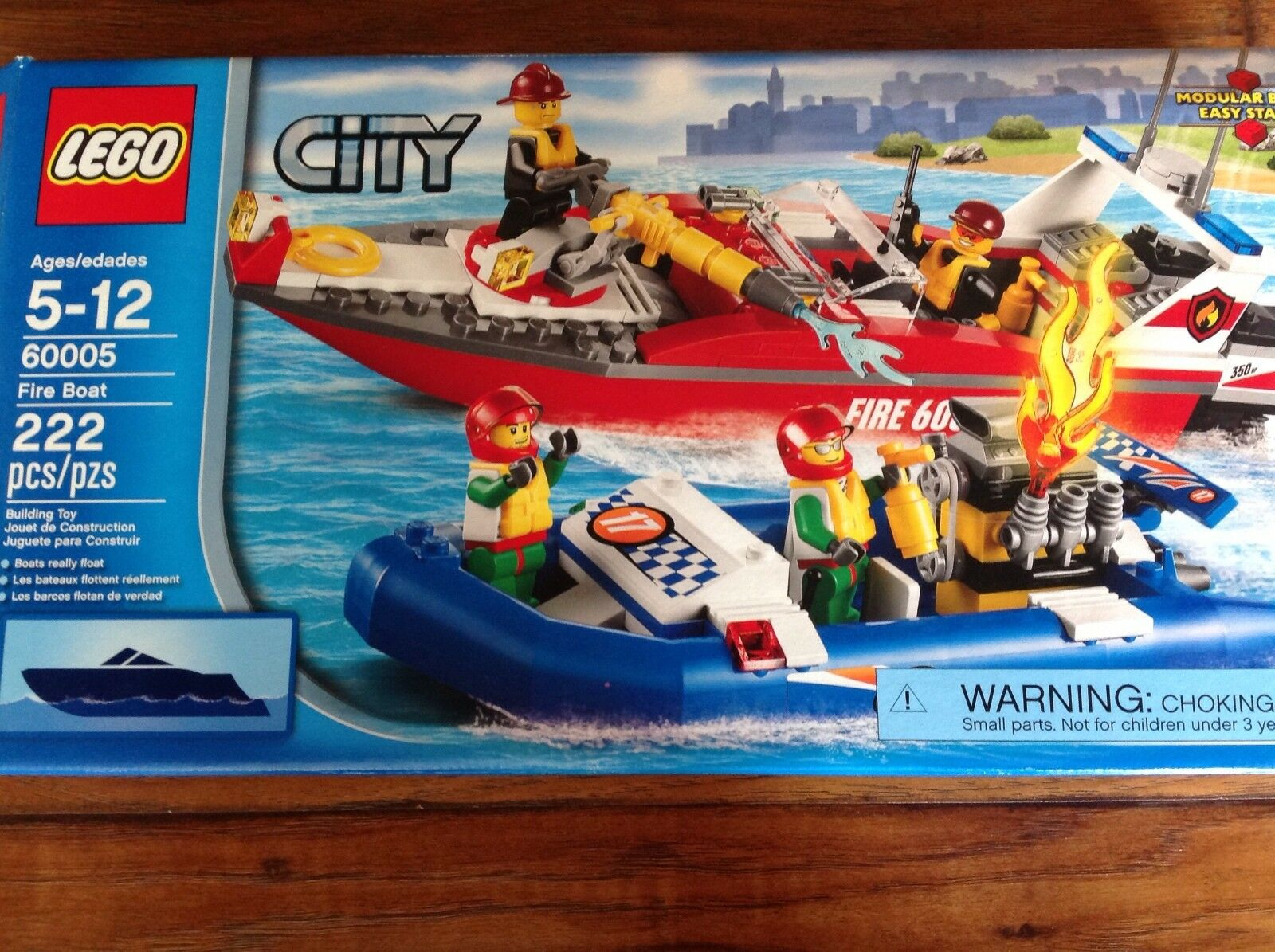 LEGO City 60005 Fire Fire Fire Boat Retired COMPLETE feac86