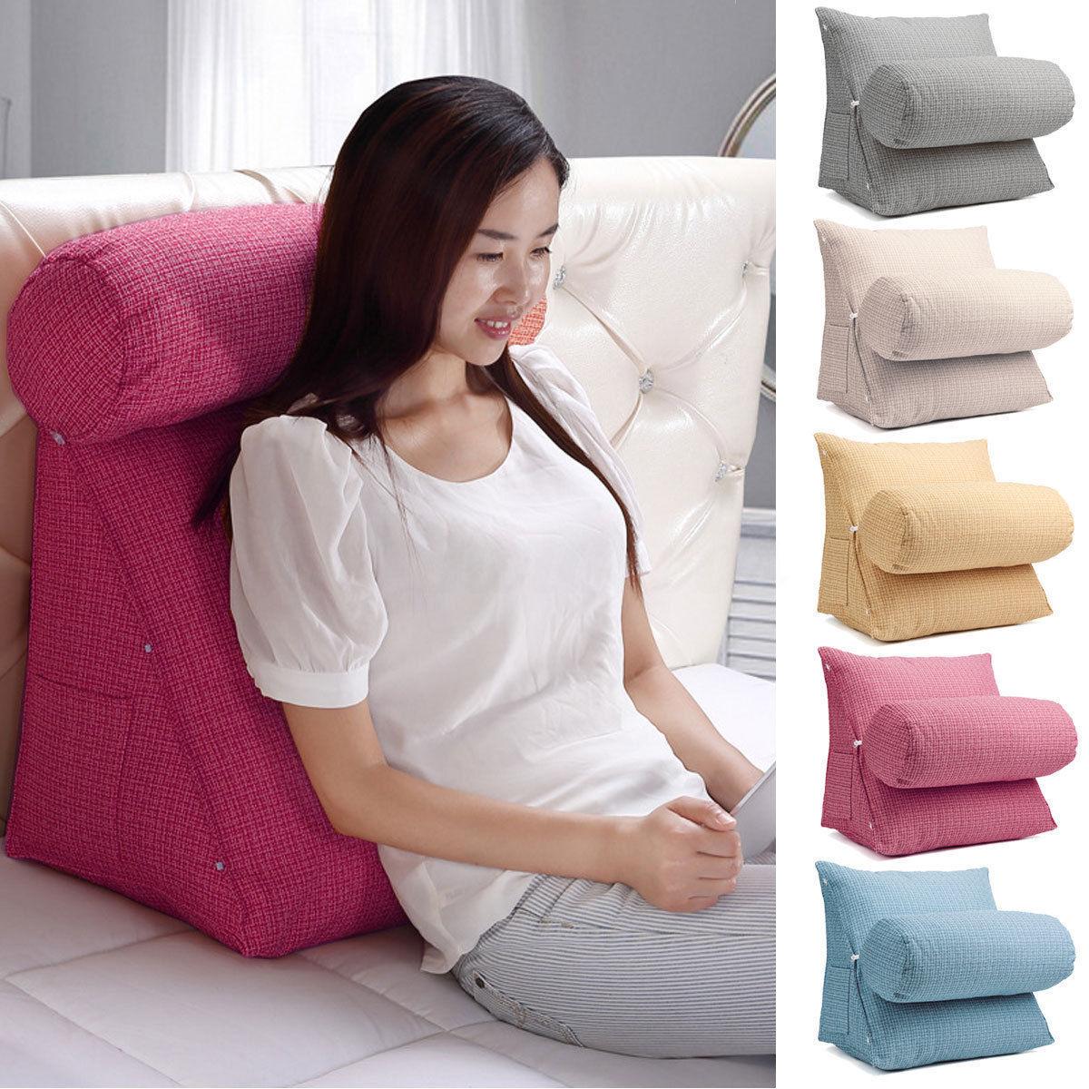 Einstellbar Rückenkeil Kissen Lesekissen Rückenlehne Sitz Sofa Bett Kissen