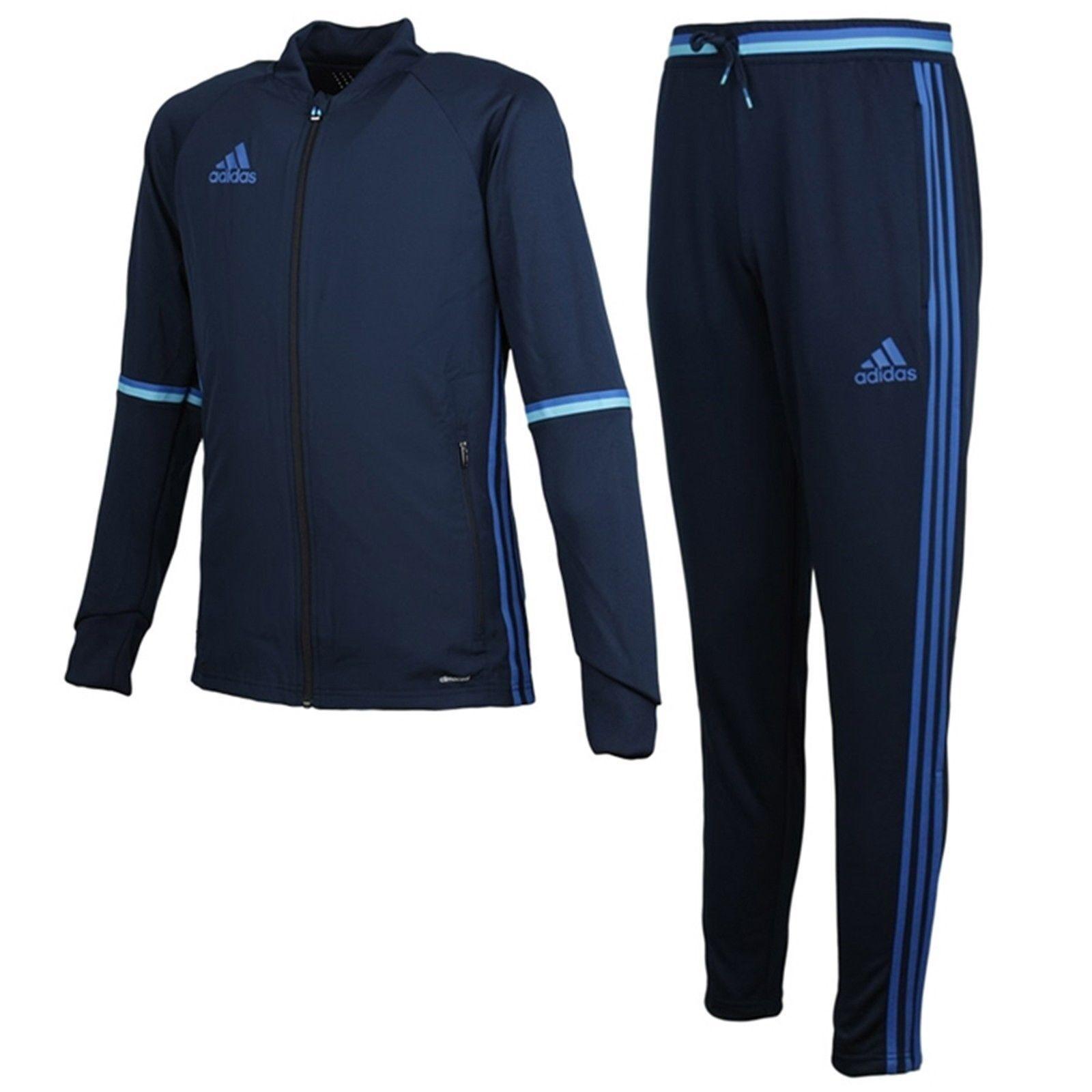 Adidas Condivo 16 formación de jóvenes Traje Conjunto Climacool Deportes Gym AB3070-AB3121