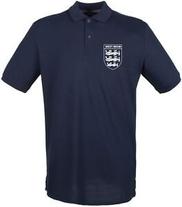 Burton Albion 3 Lions Club And Country Small Crest Polo Mens