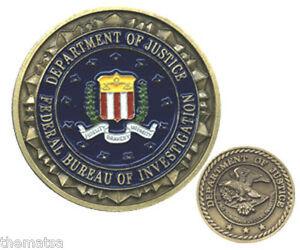 fbi federal bureau of investigations department of justice color challenge coin ebay. Black Bedroom Furniture Sets. Home Design Ideas