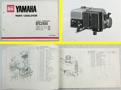 Baugewerbe LiebenswüRdig Yamaha Efc 2800 7r1 7r2 7r3 Generator Parts Catalogue 1981 Bequem Zu Kochen Zubehör