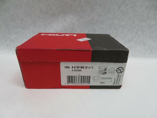 2 Pack/'s of 100 Hilti 237354 Collated Premium Fasteners X-U 62 MX New
