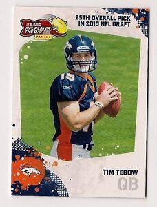 Details About Tim Tebow 2010 Panini Nfl Potd Rookie Card Pod Tti
