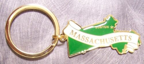Metal Key Ring State of Massachusetts NEW engraveable back
