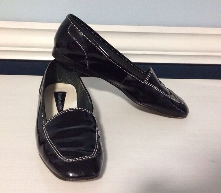 Enzo Angiolini Leather Loafers Sz 6.5 M Made In Brazil