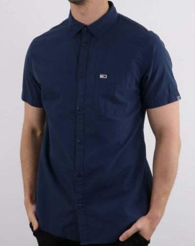 Tommy Hilfiger Jeans Tommy Hilfiger Short Sleeve Poplin Shirt in Dark Navy
