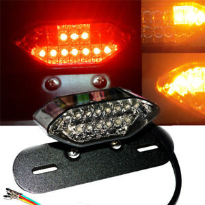 Universal-Motorcycle-Bike-LED-Stop-Brake-LicensePlate-Rear-Tail-Lights-SmokeL-HO
