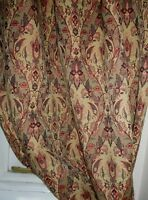 Made To Measure Italian Gold Tapestry Curtains Interlined & Eyelet Option