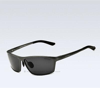 VeithdiaMens UV400 Polarized Sunglasses Aviator Outdoor Driving Sports Glasses