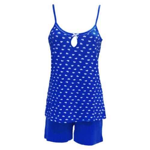 Damen Schlafanzug Shorty Pyjama Set Nachtswäsche Nachthemd made in Italy