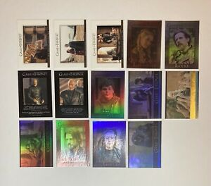 2014 Rittenhouse Game Of Thrones Trading Card Lot.(14) Gold Parallel - Numbered
