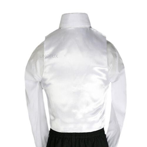 23 Color Satin 2pc Necktie Vest Set Kid Teen for Formal Party Tuxedo Suits 8-28