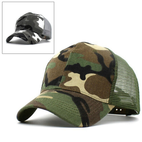 Outdoor Cap Hats Camouflage Trucker Baseball Mesh Jungle Retro Army Mens Women