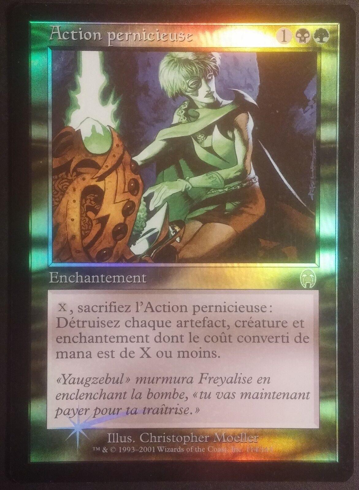 Action Pernicieuse VF PREMIUM FOIL - French Apocalypse Pernicious Deed Magic Exc