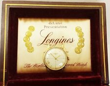Minty Fancy Lug Sweep Second Longines Mens Wrist Watch w Box