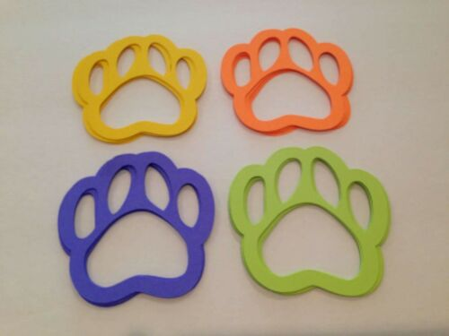 PAW PRINTS DIE CUTS LOT OF 30 SCRAPBOOKING PARTY AND CARD DECORATIONS PLUS MORE