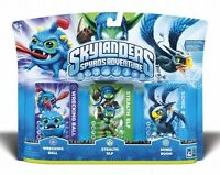 Skylanders Spyros Adventure Triple 3- Pack Wrecking Ball Stealth Elf Sonic Boom