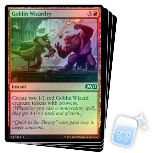 FOIL GOBLIN WIZARDRY X4 Core Set 2021 M21 Magic MTG MINT CARD