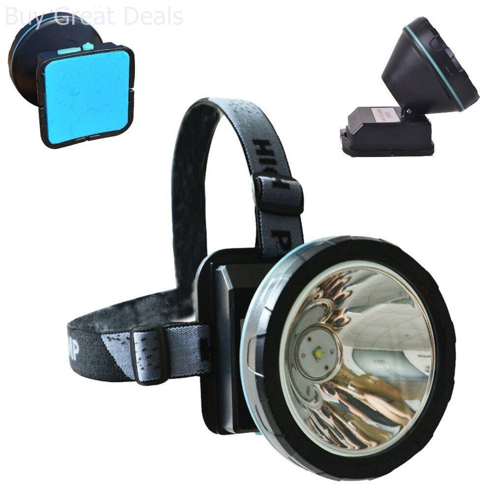 Lithium Led Cap Light Headlight Mining Lamp Miner Camping Fishing Hiking New