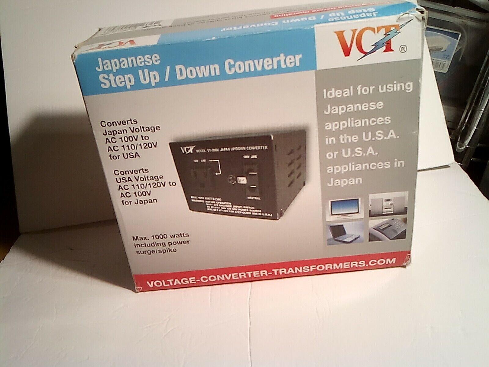 Japanese Step Up/Down Converter - Model Vt1000 I - Brand New - Open Box