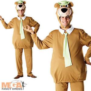 Yogi Bear Mens Fancy Dress Animal Cartoon Character 1950s Adults