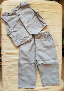 Tesco F&f Costume (pantalon & Taille Manteau) 9-12 Mois-combiné P&p Offert-afficher Le Titre D'origine