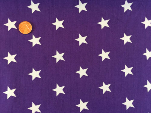 100/% Cotton Fabric Metres Curtain Craft Strip Patchwork Sewing Stars Purple Red